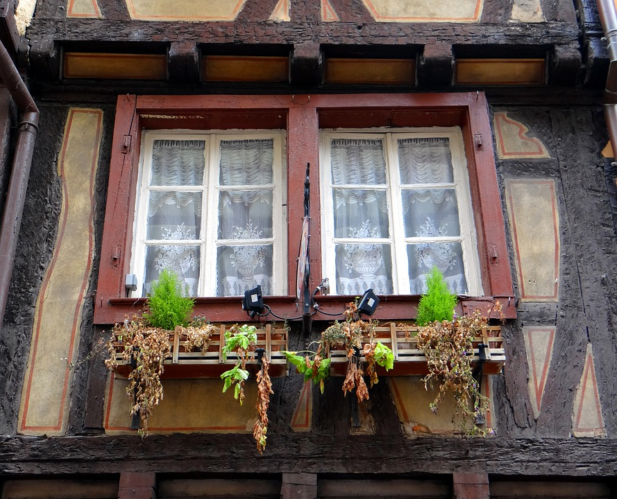 Window, Truss, Morbid, Flowers, Old Town, Old, Home