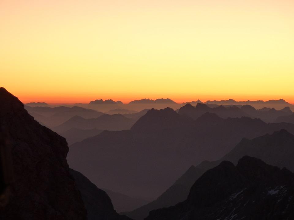 Mountains, Morgenrot, Alpine Panorama, Sunrise, Alpine