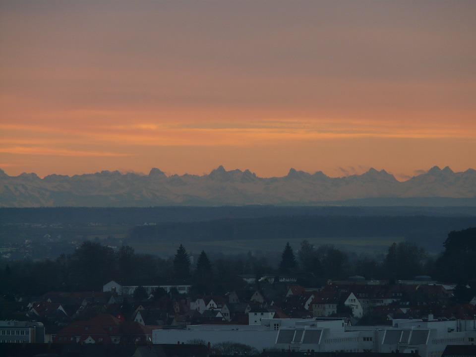 Panorama, Alpine, Morgenstimmung, Sunrise, Mountains
