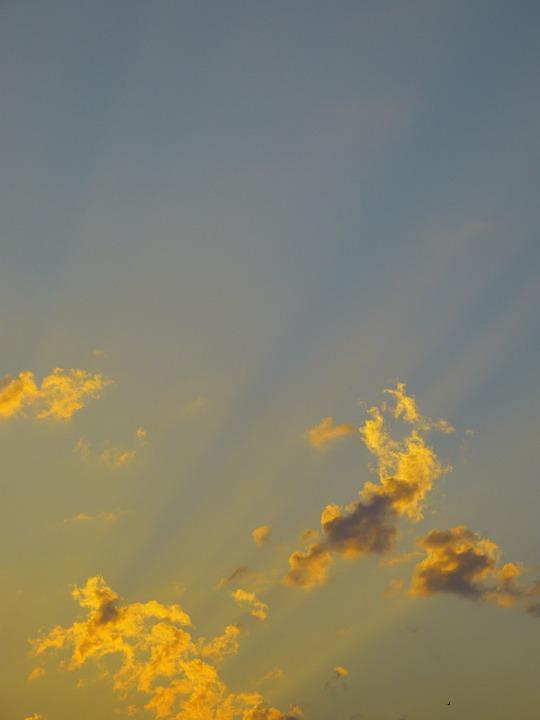 Sky, Morgenstimmung, Sun, Clouds, Morning, Sunrise
