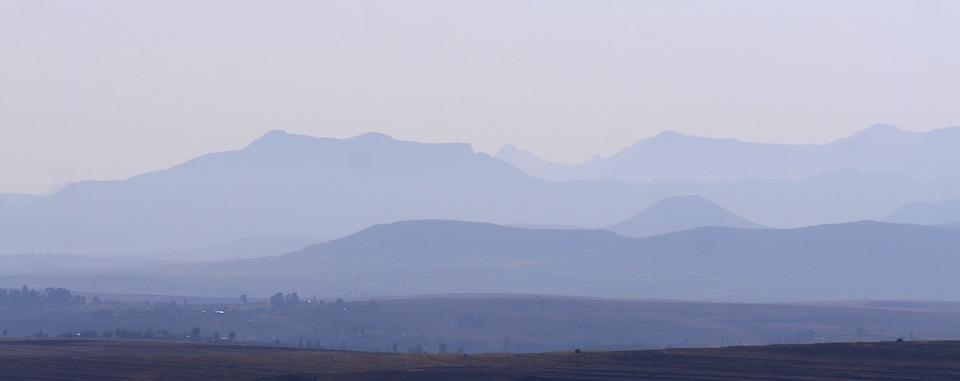 Lesotho, Morgenstimmung, Landscape, Mountains, Mood