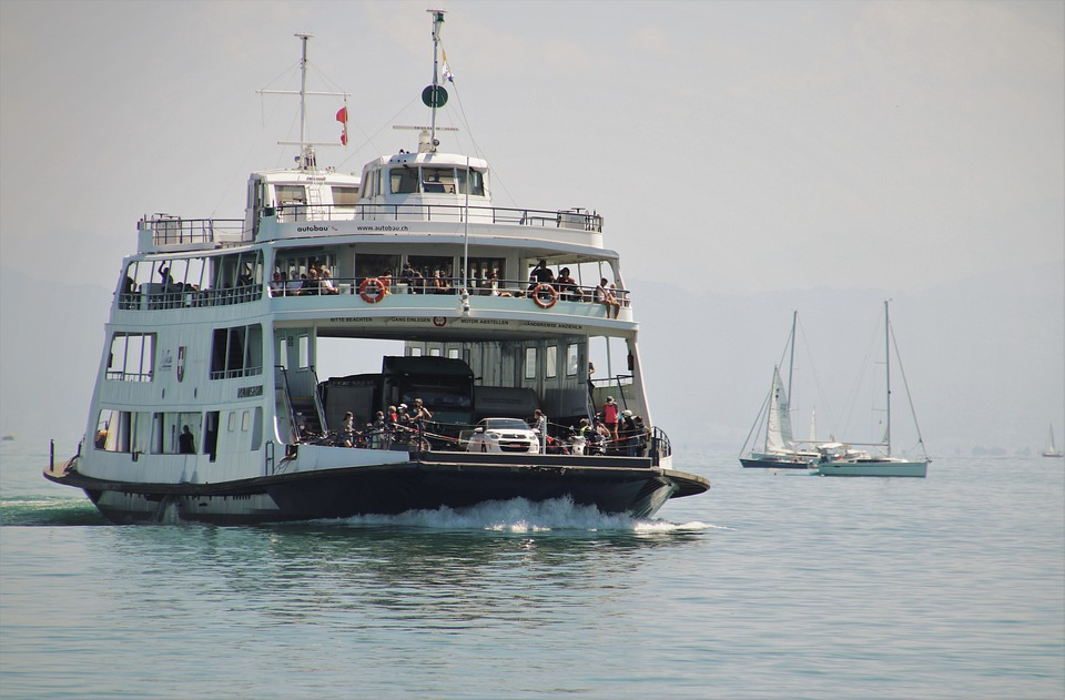 Bodensee, Ferry, Cruise, On The Water, Morning