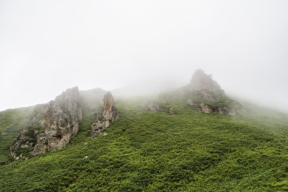 Mountain, Fog, Rocks, Landscape, Nature, Morning Mist