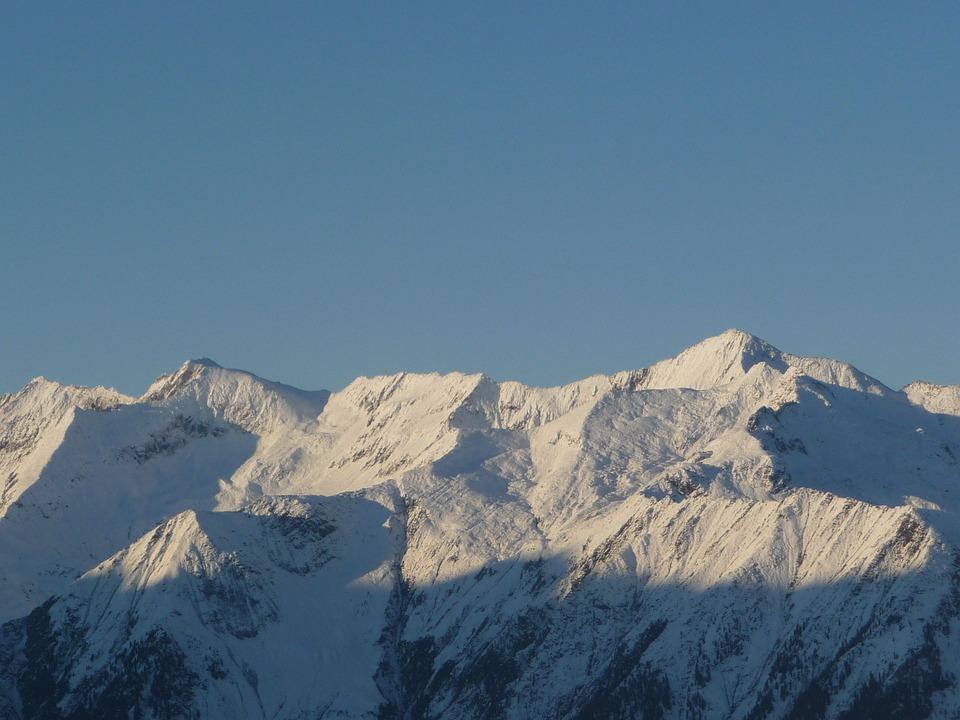 Mountains, Snow, Morning Sun