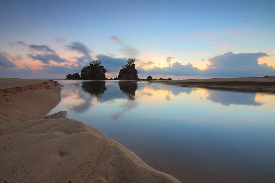 Landmark, Sunrise, Landscape, Morning, Reflection