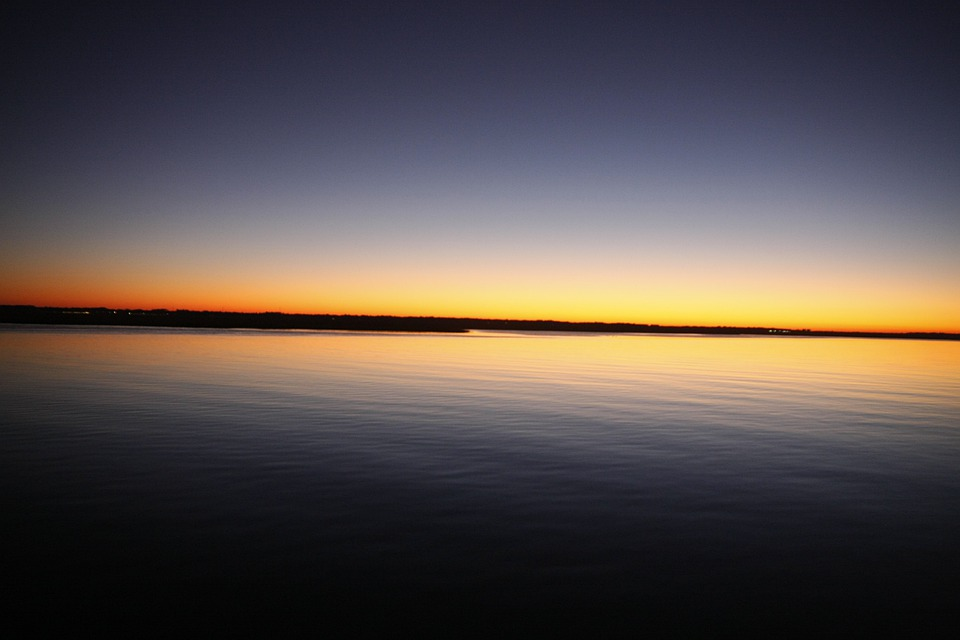 Georgia, Sunrise, Georgia Sunrise, Water, Morning