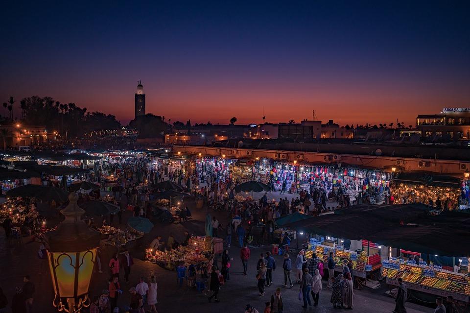 Marrakech, Marketplace, Morocco, Bazaar, Culture