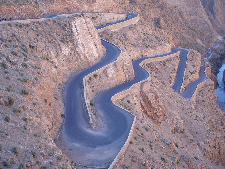 Morocco, Road, Grá, Marroc