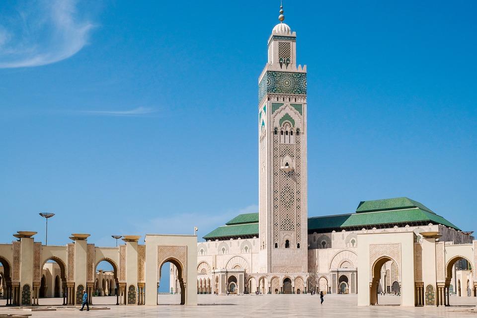 Mosque, Casablanca, Morocco, Islam, Muslim, Minaret