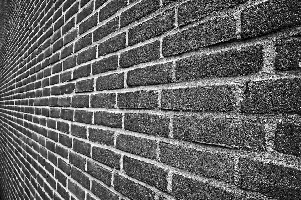 Brick Wall, Brickwork, Wall, Seam, Mortar, Cement