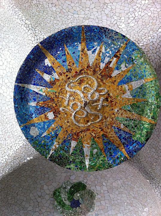 Mosaic, Gaudí, Barcelona, Garden Gaudí