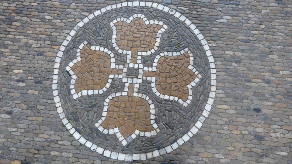 Mosaic, Road, Symbols, Stones, Patch, Ornaments