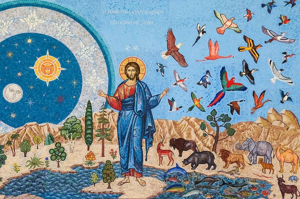 Genesis, Mosaic, Iconography, Russian Church, Religion