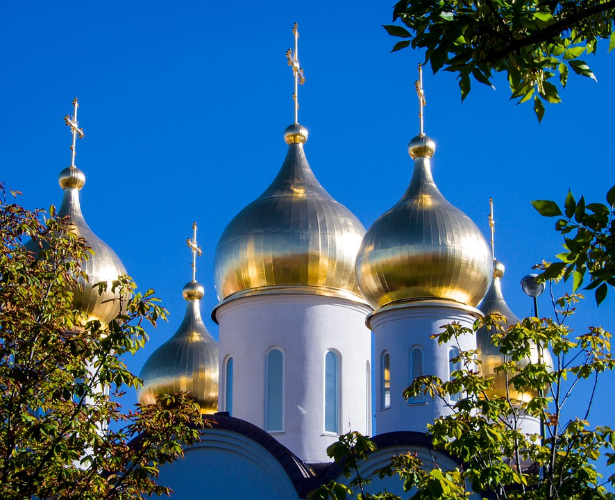 Moscow, Church, Orthodox, Gold, Dome, Architecture