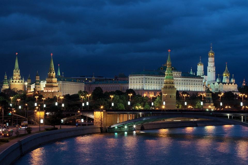 Moscow, Night, Russia, Kremlin, Night Photograph