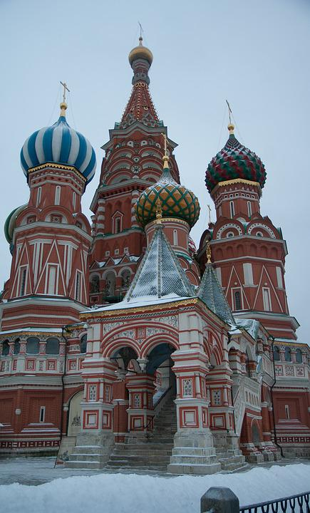 Moscow, Saint Basil's Cathedral, Othodoxe, Red Square