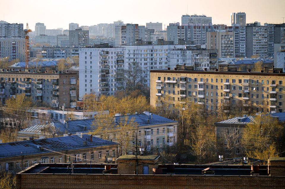 Moscow, Russia, Rooftops, Soviet, Architecture, City