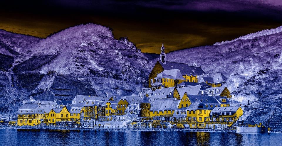 Mosel, Beilstein, Village, City, Homes, Photo Art