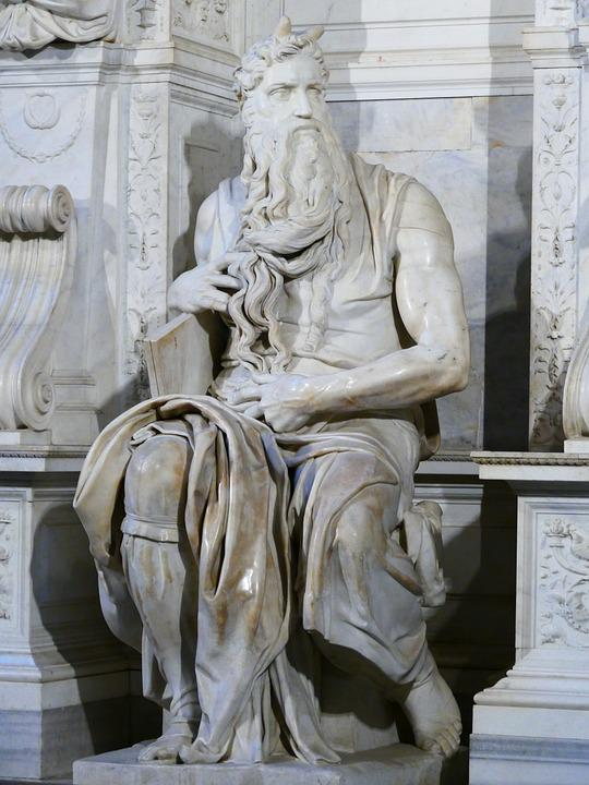 Moses, Horned, Statue, San Pietro In Vincoli, Rome