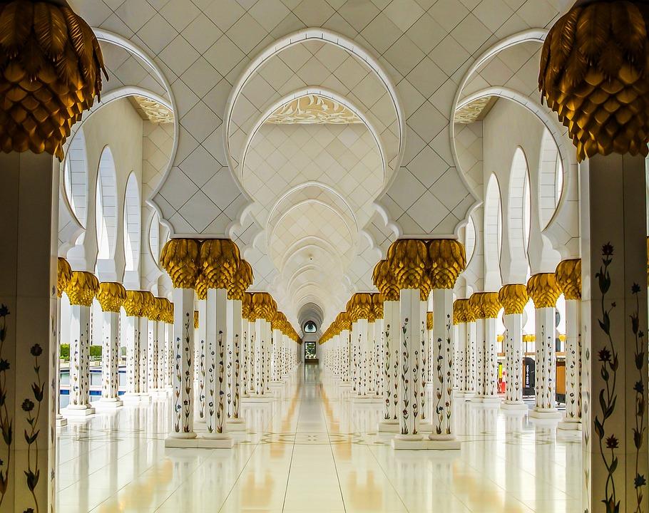Orient, Abu Dhabi, Mosque, Islam, Emirates