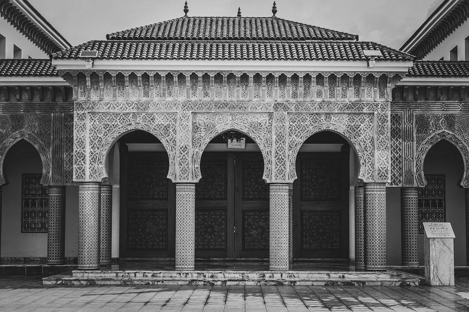 Mosque, Entrance, Exterior, Engineering