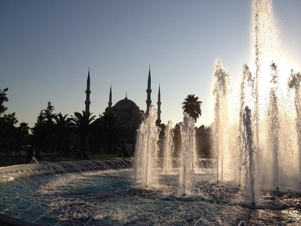 Istanbul, Travel, Turkey, City, Mosque, Water, Fountain