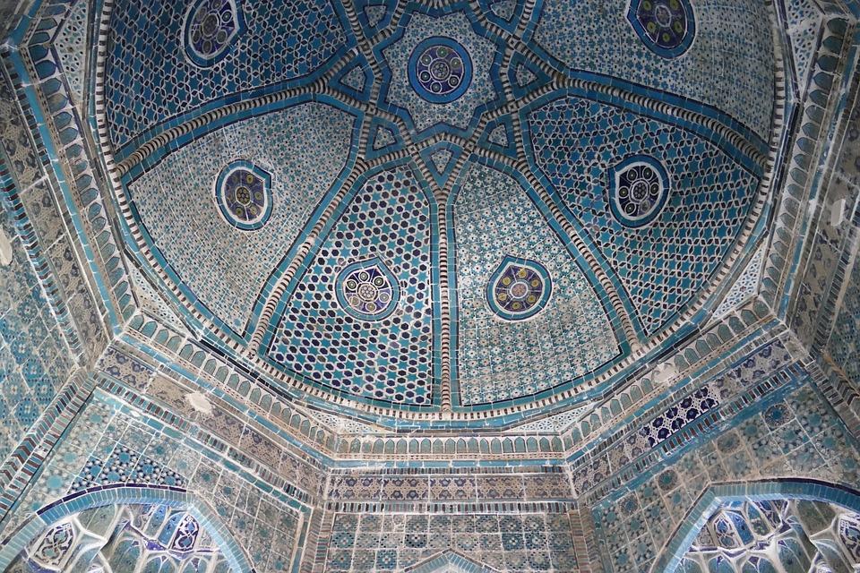 Uzbekistan, Samarkand, Mosque, Central Asia, Mausoleum