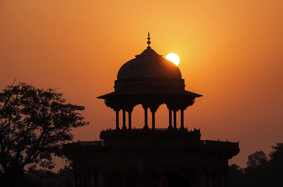 Free photo Mosque Silhouettes Agra India Taj Mahal Sunset  Max Pixel