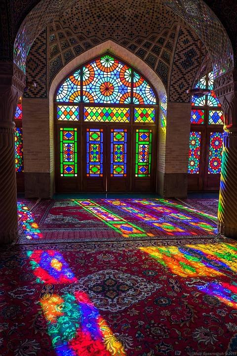 Nasir Al Mulk Mosque, Shiraz, Iran, Sun, Window, Mosque