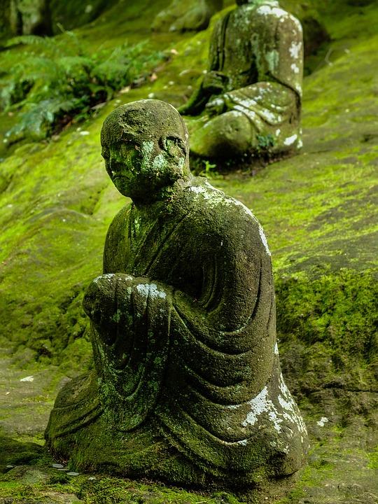 Buddha, Statue, Moss, Sculpture, Buddha Statue, Japan