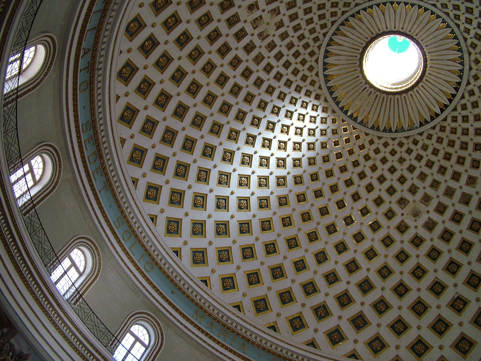 Malta, Mosta, Church, Dome