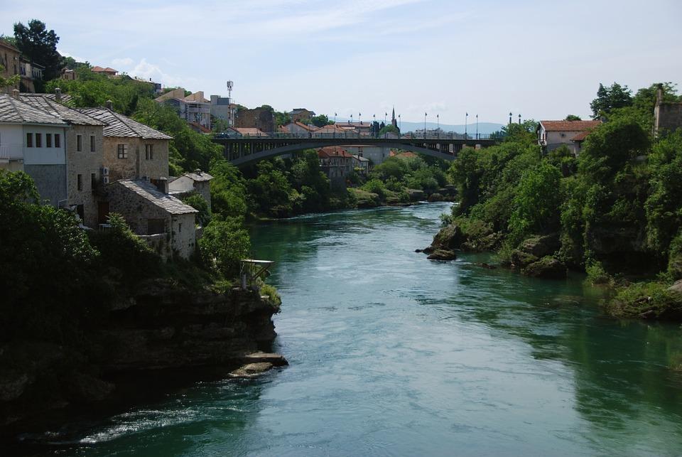 Mostar, Bosnia, Bridge, River, Architecture, Monument