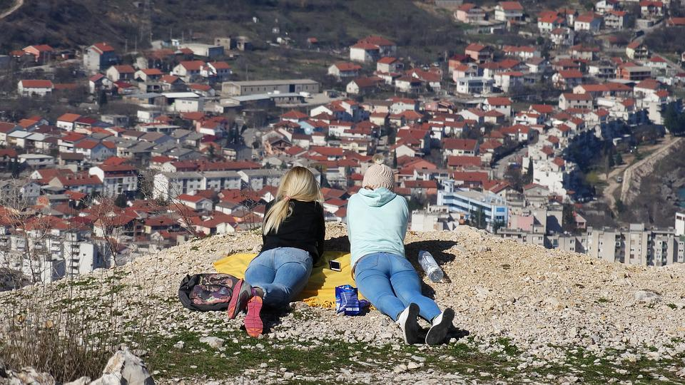 Girls, Relaxation, Mostar, View, Relax, Laying Down