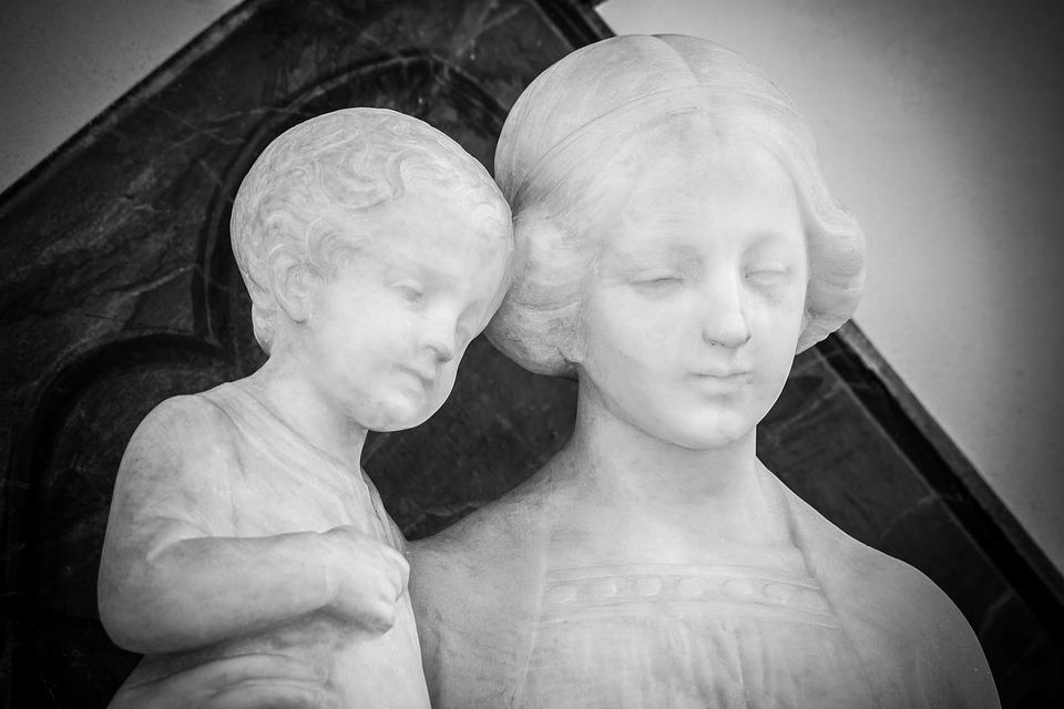 Maria, Jesus, Madonna, Mother Of God, Art Nouveau, Fig