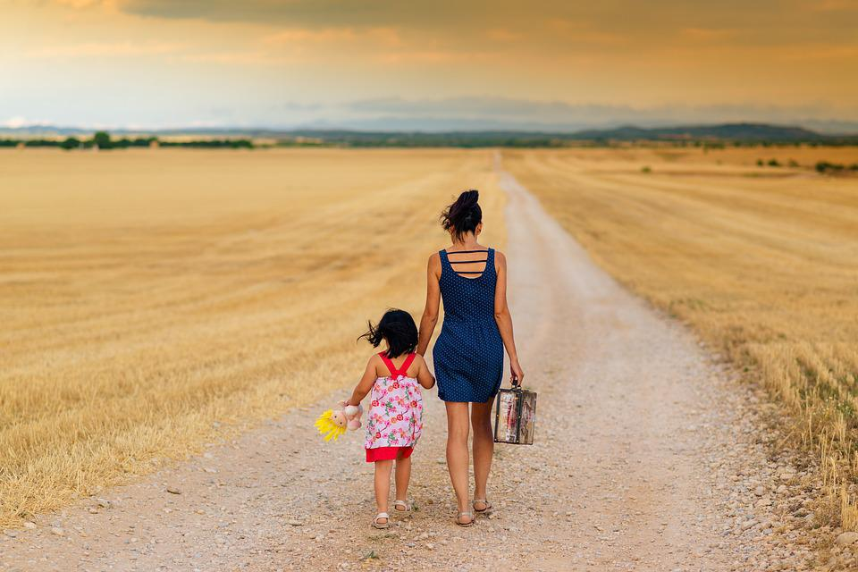 Girl, Family, Path, Child, Mother, Parent