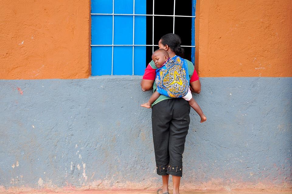 Mother, Child, Piggyback, Africa, Human, Sling