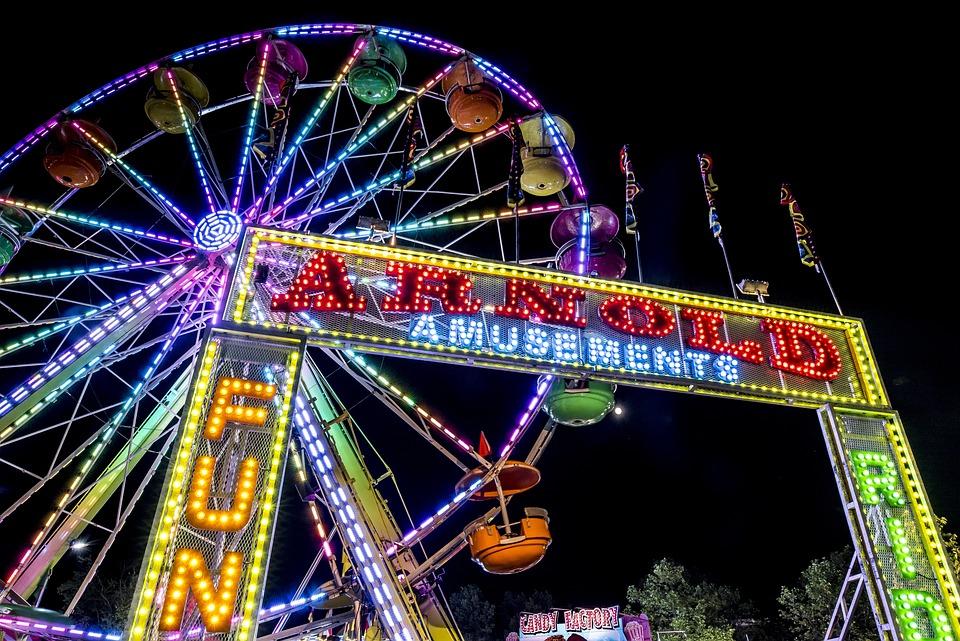 Ferris Wheel, Carnival, Night, Motion, Carousel, Wheel