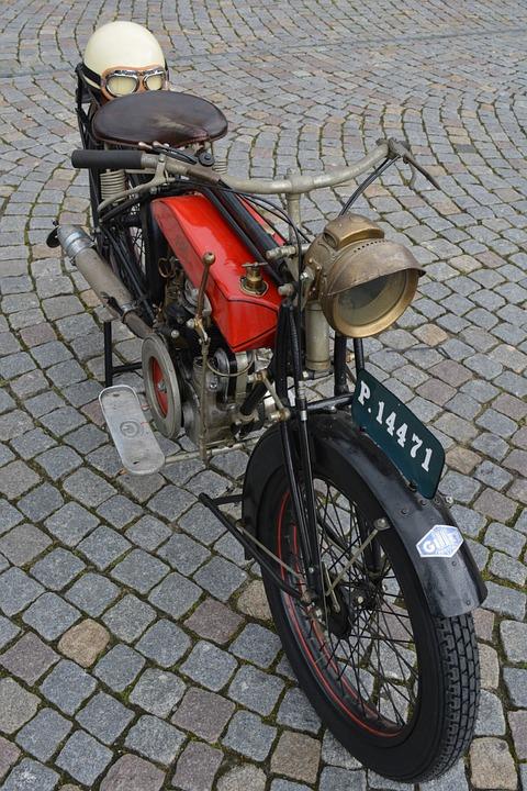 Moped, Moto, Bicycle, Oldtimer, Vehicle, Gilet