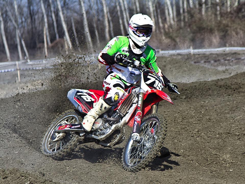 Motocros, Moto, Sport, Jump