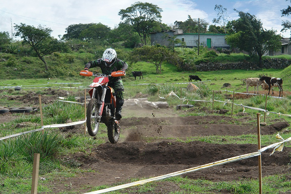 Motorcyclist, Motocross, Track, Motorcycle