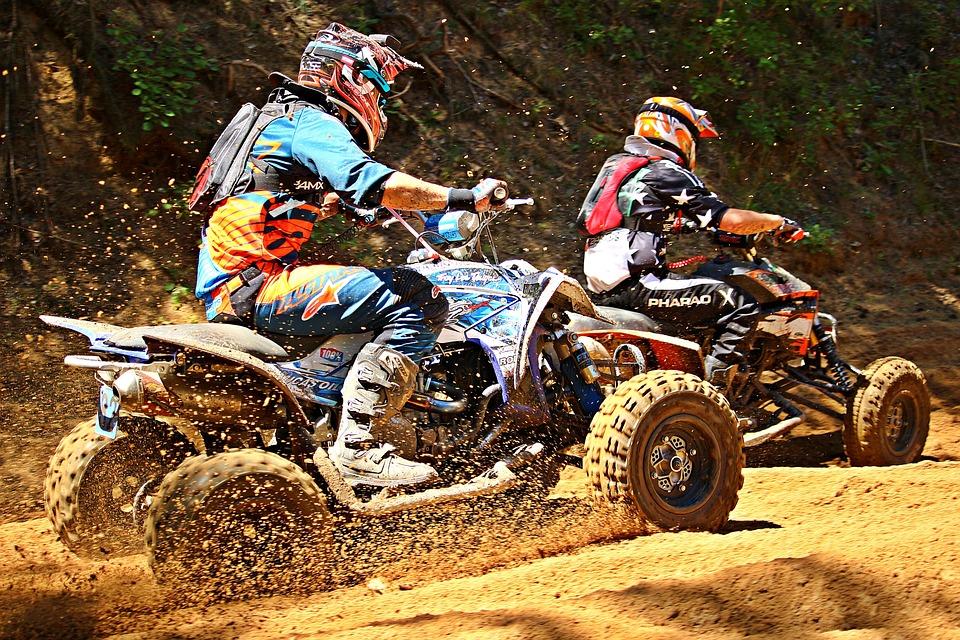 Quad Race, Motocross, Atv, Quad, All-terrain Vehicle