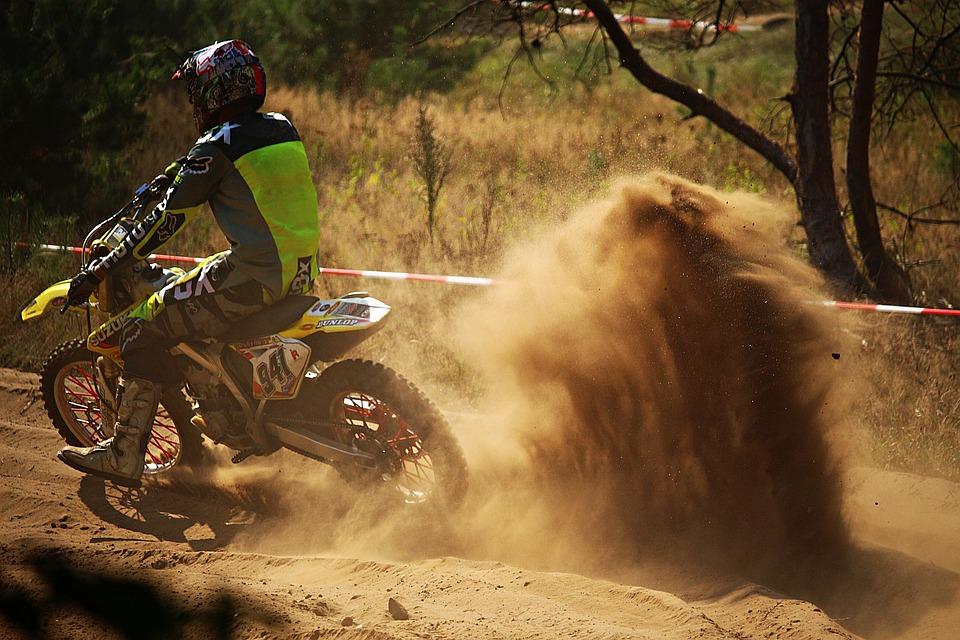 Motocross, Enduro, Sand, Dust, Motorsport, Motorcycle