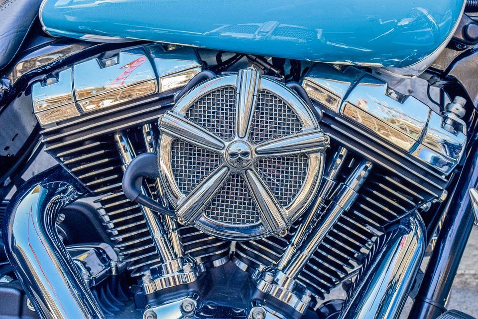Motor, Block, Vehicle, Shiny, Machine, Chrome, Metal