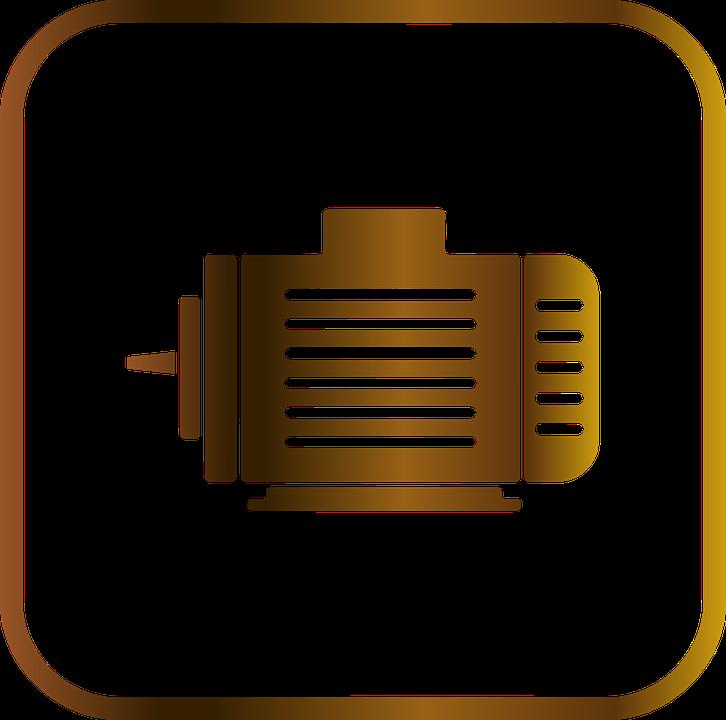 Motor, Engine, Battery, Power Supply, Icon