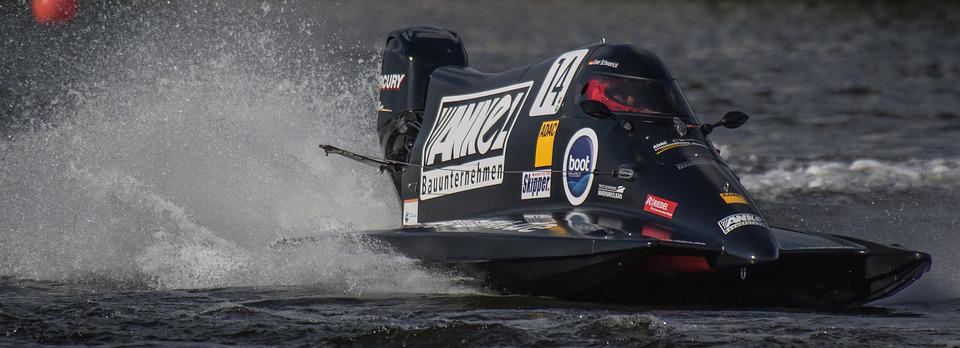 Motor Racing Boat, Race, Racing Boat, Water Sports