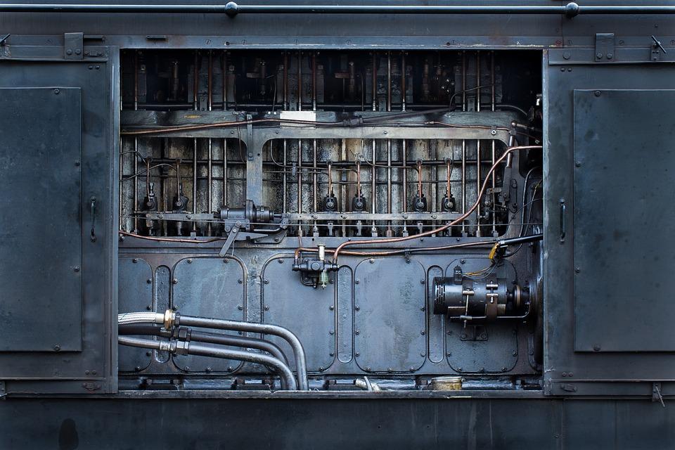 Machine, Train, Locomotive, Railway, Motor, Force