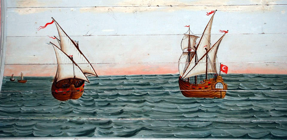 Motor Sailers, Ships, The Framework, Sea, Painting