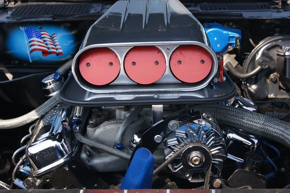 Motor, Chrome, Auto, Close Up, Tuning, Automobile
