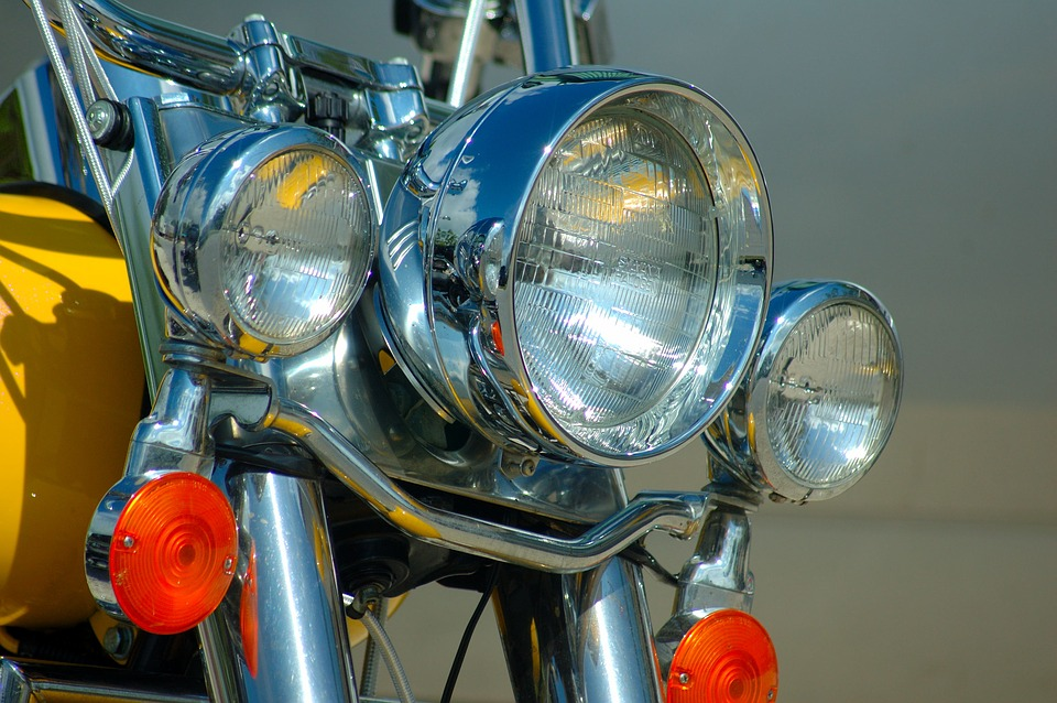 Motorcycle, Biker, Lights, Chrome, Motorbike, Motor