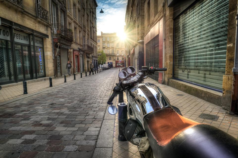 Motorcycle, Motorbike, Street, Parked, Bike, Hdr